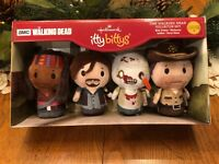Hallmark Walking Dead Itty Bittys Plush Set Rick Daryl Michonne Zombie Bitty NEW