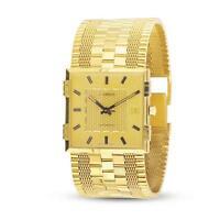 NOS 18K Gold JUVENIA MACHO Mens 25J AUTOMATIC Watch 8902* 1 Year Store Warranty!