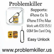 Problemkiller Perfect Unlock Turbo Sim Card from 6s to All iPhone Pro iOs 13.5.1