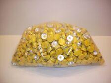 Large 1000 Pc. Lot 20mm Flip Top Cap Aluminum Crimp Seal for Serum Vials Yellow
