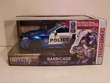 TRANSFORMERS Last Knight Ford Mustang Barricade Police Car 1/24 Jada Toys 8 inch