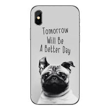 Happy Pug Soft Phone Case Rubber Slim Cover Skin for Iphone 6 6S 7 8 Plus X 5 5S