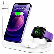 Waitiee Wireless Charger 3 in 1 Stand for iPhone 12 and iWatch Series 6/5/4/3...