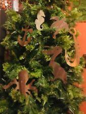 Rusty Tin Nautical Christmas ornaments lot of 6