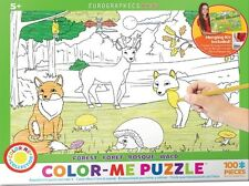 Jigsaw Puzzle Color Me Forest 100 pieces NEW Paint it Yourself Stress Relief