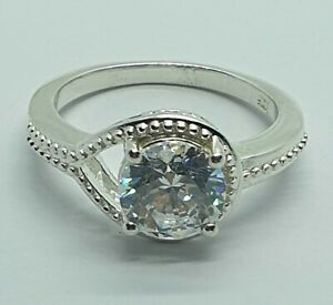 Brand New Sterling Silver 925 CZ Ring Size O