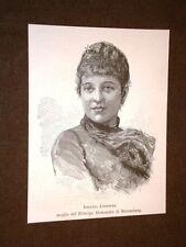 Soprano Johanna Maria Louise Loisinger nel 1889 Moglie Alessandro di Battemberg