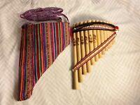 Handmade Peruvian Curve Chill Pan Flute 13 Pipe Professional Native+Case Gift