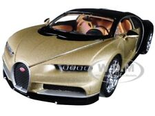 BUGATTI CHIRON GOLD / BLACK 1:24-1:27 DIECAST MODEL CAR BY WELLY 24077