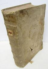 1695 ANTIQUE BLINDSTAMPED PIGSKIN BOUND FOLIO by CASPAR VON SCHMID