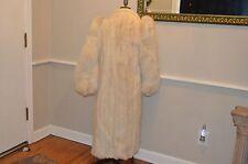 vintage white buff champagne cream mink fox sleeve fur coat