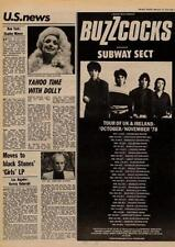 Buzzcocks & Subway Sect UK Tour advert Oct/Nov 1978 MM-DCSX