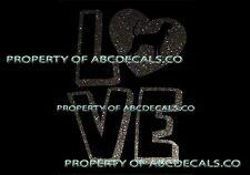 Vrs Love Logo Heart Dog Black and Tan Coonhound Car Decal Metal Sticker