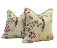 "Pair Laura Ashley Summer Palace  18"" x 18"" (45cm x45cm) Piped Cushion Cover"