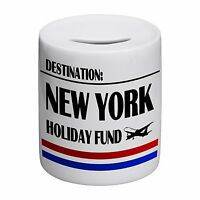 Destination New York Holiday Fund Novelty Ceramic Money Box