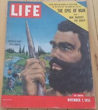 LIFE MAGAZINE NOVEMBER 7 1955 EPIC OF MAN GREGORY PECK EUROPE'S FIRST HUMAN