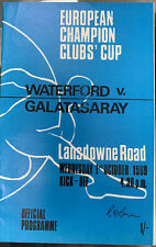 More details for waterford v galatasary european cup 1969