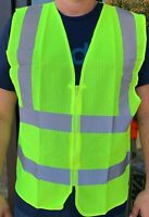 Yellow Mesh High Visibility Safety Vest, ANSI/ ISEA 107-2010