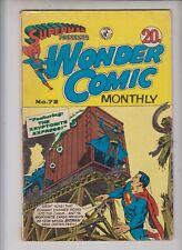 WONDER #72  COLOUR COMICS (Aussie DC) 1970- Tomahawk, Batman and Superman