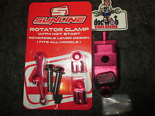 New Sunline mx clutch brake lever rotator bar clamp + hot start lever red YZ2193