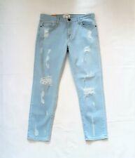 NEW CURRENT ELLIOTT Size 29 The Fling Slim Boyfriend Distressed Jeans, NWT