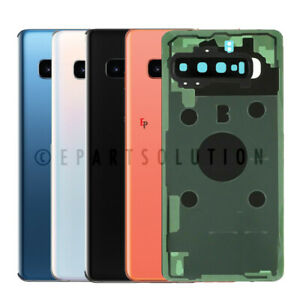 Samsung Galaxy S10/S10 Plus/S10E Rear Battery Door Back Cover Glass Camera Lens