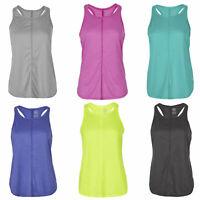 Women Ladies Sleeveless Yoga Racer Back Tank Top Vest Workout Activewear 3 Pack