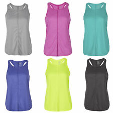 Women Ladies Sleeveless Yoga Racer Back Tank Top Vest Workout Activewear 3 Pack
