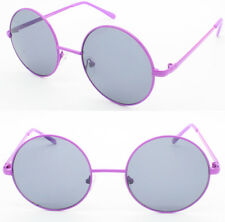 Colored Frame Round Retro John Lennon Style Teashade Sunglasses Costume Party