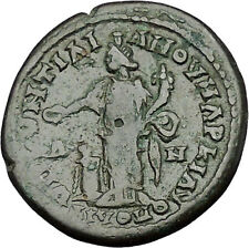 CARACALLA 198AD Marcianopolis TYCHE ALTAR Authentic Ancient Roman Coin i50922