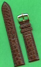 Alligator Brown 20mm Strap Leather Lined Genuine Rolex Gold Buckle & Genuine