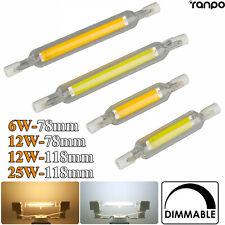 1/2/5X à Variation R7s LED Ampoule 78mm 118mm 6W 12W 25W Remplacer Lampe