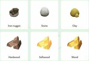 [ACNH] 💎New Horizons💎 Iron, Stone, Clay, Hardwood, Wood, Softwood, Gold + GIFT
