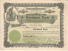 NEW YORK Larchmont Farm Stock Certificate 1909 #11