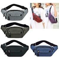 Men Women Chest Pouch Fanny Pack Waist Bag Hip Belt Pouch Portable Travel Purse