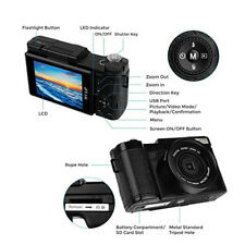 Digital Video Camera Camcorder 1080p Full HD 3''LCD Touch Screen DV Vlogging Cam
