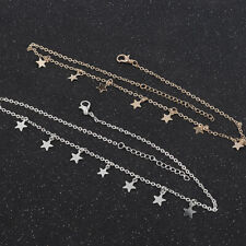 Gold Silver Chain Choker 7 Stars Pendant Necklace Classic Free Gift Bag UK