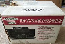 Go Video Model GV-6020 Dual Deck VCR tape recorder Copy Dub NEW IN BOX!!