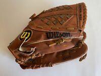 "Wilson 12.5"" A2489 MLB Baseball Glove RHT Adult Baseball Glove USED"