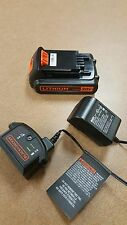 Black & Decker 20V 1.5 AH Lithium Ion Battery LBXR20 and Charger LCS1620 New