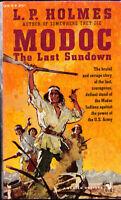 Modoc The Last Sundown L.P. Holmes Bantam Western Paperback 1957