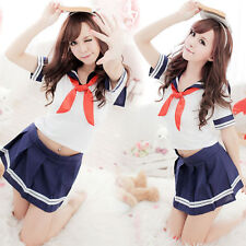 SCUOLA giapponese ragazza Cosplay-UK Venditore-Da Donna Sexy Babydoll Studente uniforme