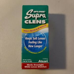 New Opti Free Supra Clens Daily Soft Contact Lens  Protein Remover - EXP 4/30/20