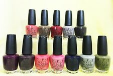 Opi Nail Lacquer *Touring America Collection Fall 2011* 12 Shades Set New!