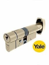 YALE EURO TURN ANTI-SNAP 35/35mm CYLINDER BRITISH STANDARD 6 PIN IN BRASS NEW