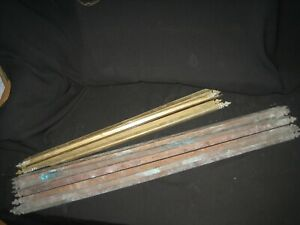 Job Lot 16 VINTAGE BRASS STAIR RODS - Various types & sizes