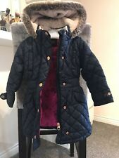 Ted Baker Girls Navy Coat 18-24 Months