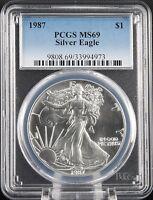 1987 Silver Eagle PCGS MS 69