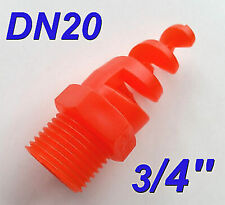 "5 pcs New 3/4"" DN20 Polypropylene PP Spiral Cone Spray Nozzle 3/4 "" BSPT 0.75"""