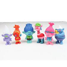 Trolls Toys Figures - 6 Pcs Set Action Characters